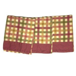 3 Better Homes & Gardens Plaid Valances Curtains